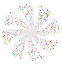 Confetti star fireworks swirl rotation vector