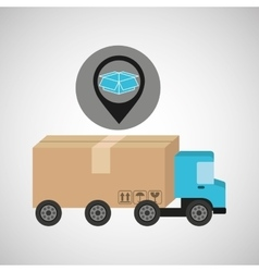 delivery truck concept box carton icon vector image