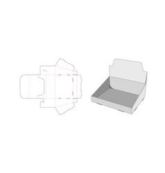 Display shelf die cut template vector