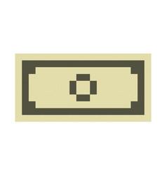 Dollar banknote cash pixel art cartoon retro game vector