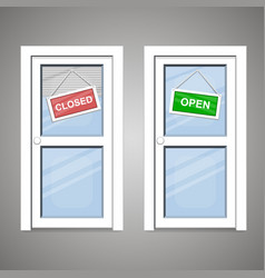 doors open closed vector image