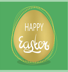 Easter egg and lettering spring greeting card vector