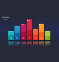 easy editable 7 options infographic design vector image