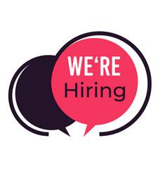 employment or hiring recruitment vacant job vector image