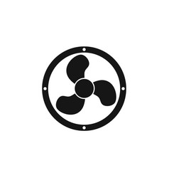 fan icon simple flat symbol perfect black vector image