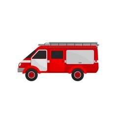 Fire van car emergency service vehicle vector