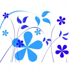 flowers print vector image