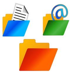 Folders set vector image