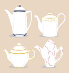 For ceramic teapot vector