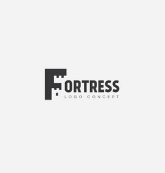 Fortress lettering logo vector