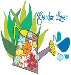 Garden lover vector