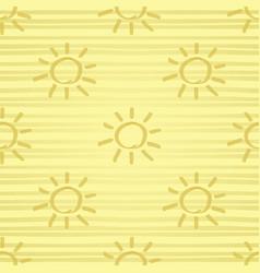 golden sun seamless pattern vector image