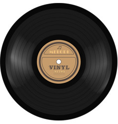 Gramophone vinyl lp record old technology vector