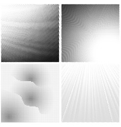 Halftone pattern set dots dotted texture on vector