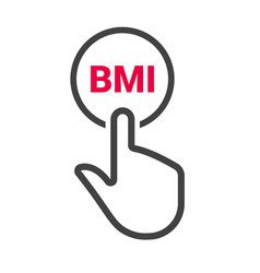 hand presses the button with text bmi vector image