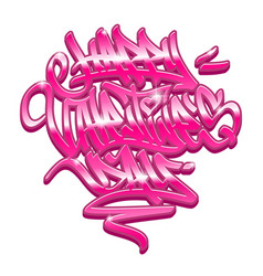 happy valentines day graffiti lettering vector image