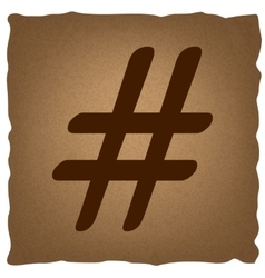 Hashtag sign Vintage effect vector