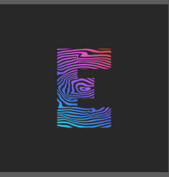 letter e logo gradient curves pattern smooth vector image