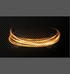 light effect on transparent background golden vector image