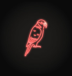 lory parrot icon in glowing neon style vector image