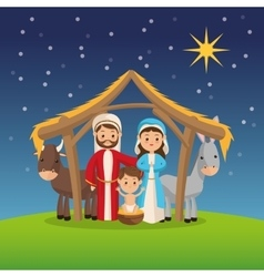 Manger icon Merry Christmas design vector image