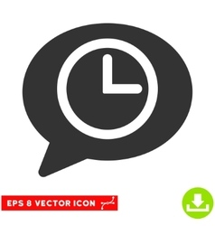 Message Time Eps Icon vector