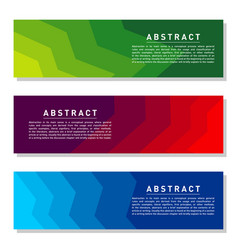 modern abstract banner set cool gradient shapes vector image