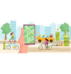 modern urban lifestyle concept vector image