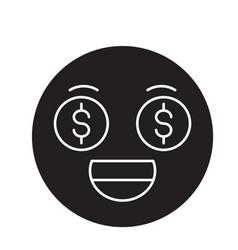 money emoji black concept icon money emoji vector image