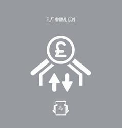 Money transfer icon - sterling vector