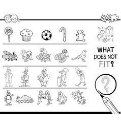 not fitting picture game coloring page vector image