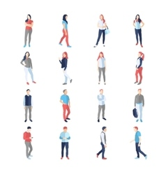 People male female in different casual common vector