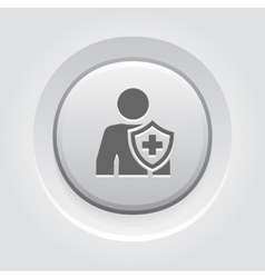 Personal Insurance Icon Grey Button Design vector
