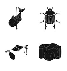 photography video ecology and other web icon in vector image
