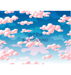 pink clouds seamless pattern vector image