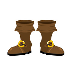 Pirate boots isolated rover shoes buccaneer shoe vector