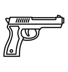 police pistol icon outline style vector image
