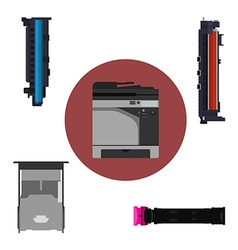 Print equipment vector image