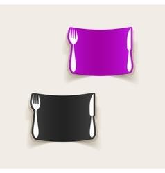 Realistic design element knife fork vector