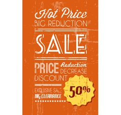 retro sale background orange vector image