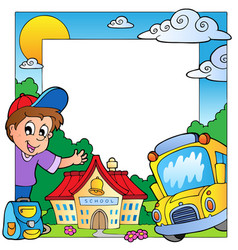 school theme frame 1 vector image