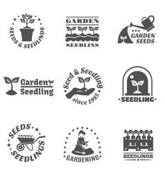 Seedling Label Set vector image