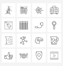 Set 16 universal line icons e commerce vector