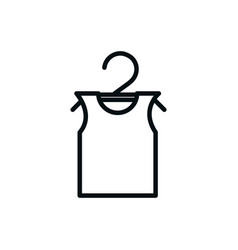 shirt in hanger fashion shopping line style vector image