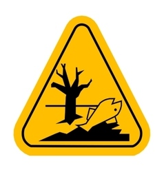 Sign of poisonsous Dead fish vector