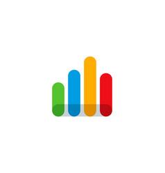 signal statistic logo icon design vector image
