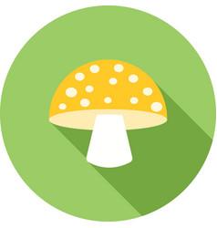 Single mushroom vector