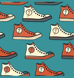 sport shoe pattern seamless vector image