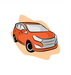 sporty orange city car vector image