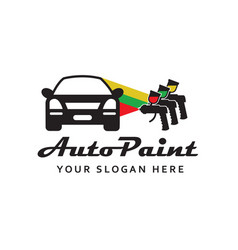 Spray gun car painting vector